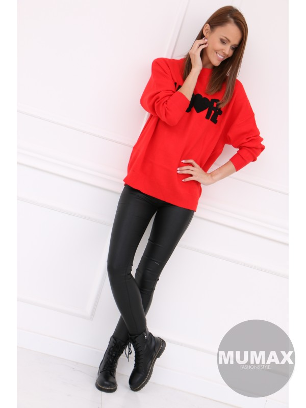Dámsky červený svetrík