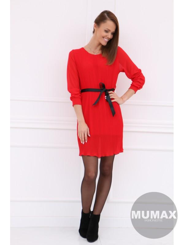 Červené plisované šatky