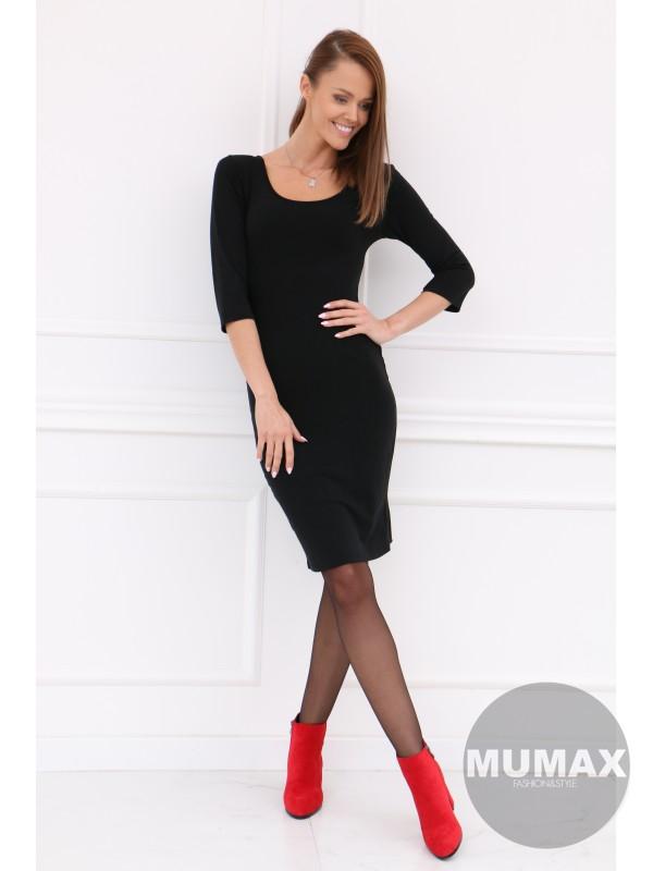 Čierne úzke šaty