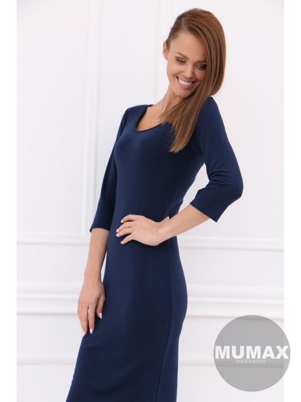 Tmavomodré úzke šaty