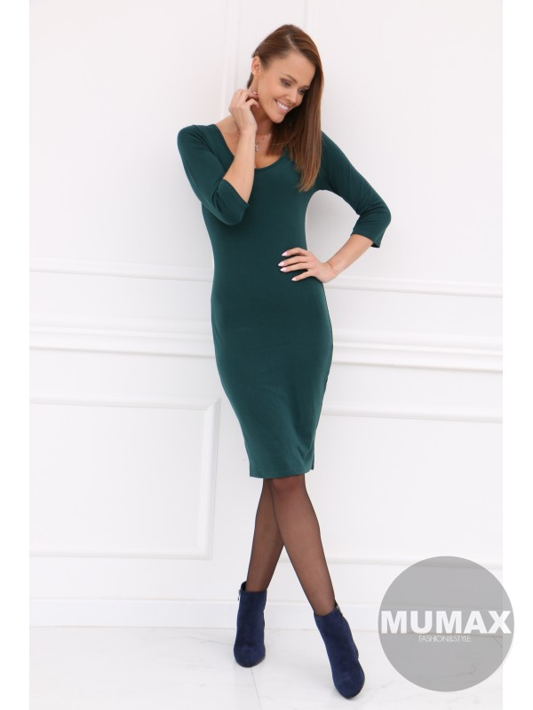 Smaragdové úzke šaty
