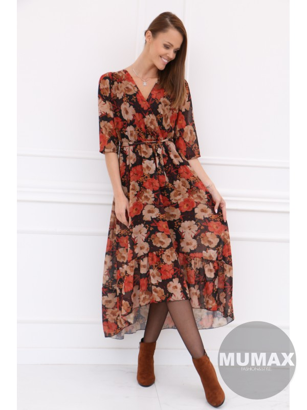 Dlhšie kvetované šaty