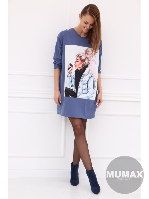 Trendy modré šaty