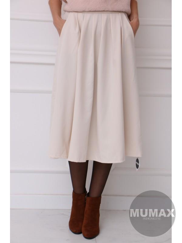 Dámska krémova sukňa
