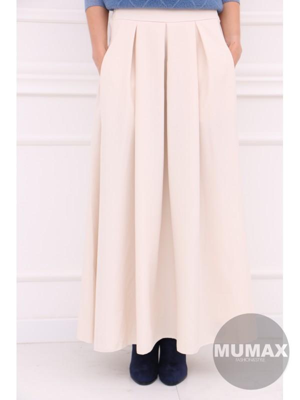 Dámska krémova elegantná sukňa