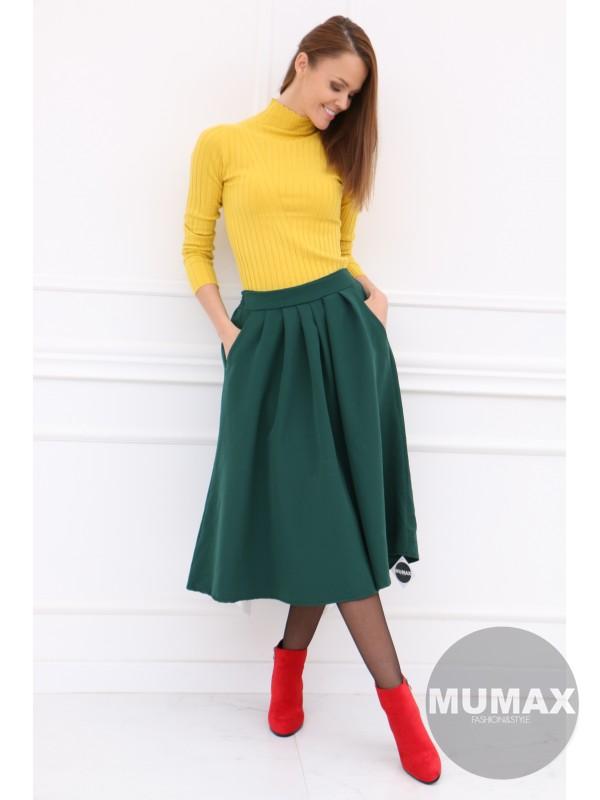 Dámska smaragdová sukňa
