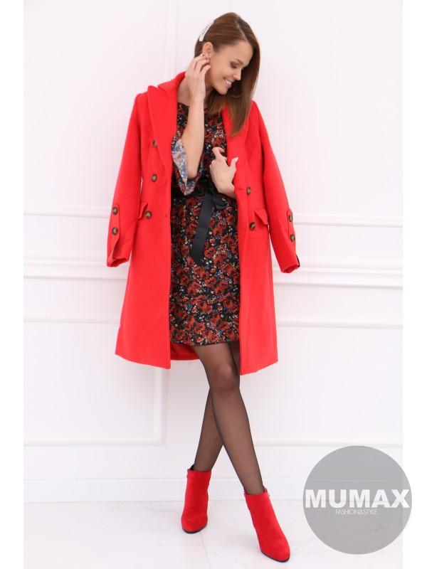 Dámsky červený kabát