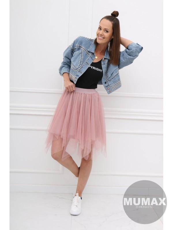 Tylová asymetrická sukňa