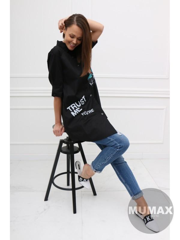Čierná košeľa LOVELY