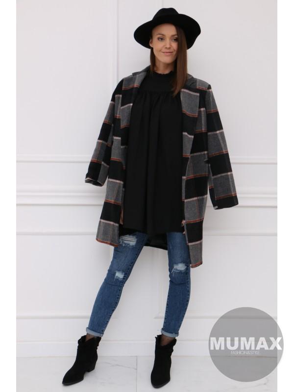 Dámsky kabát kocka