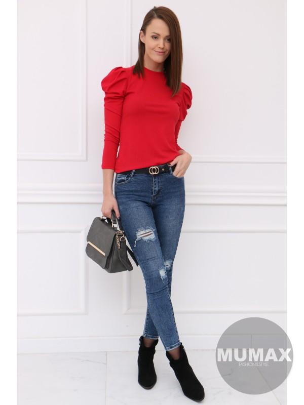 Červené tričko s dlhými rukávmi