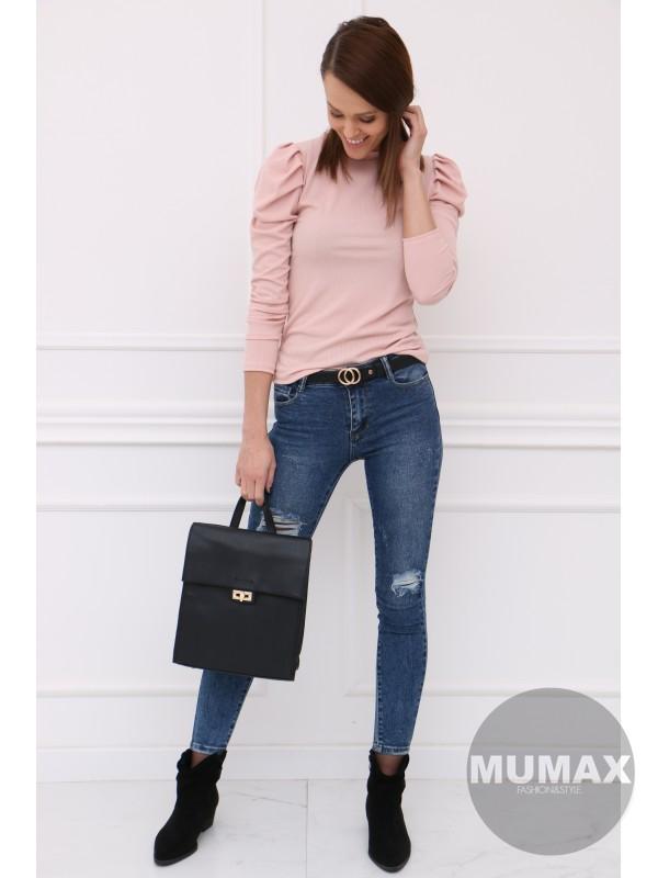 Ružové tričko s dlhými rukávmi