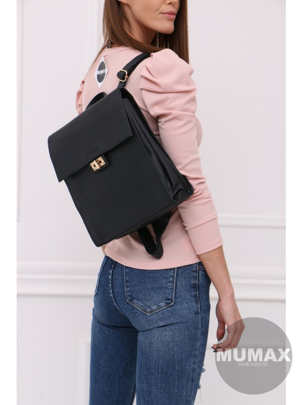 Trendy čierný ruksak MC