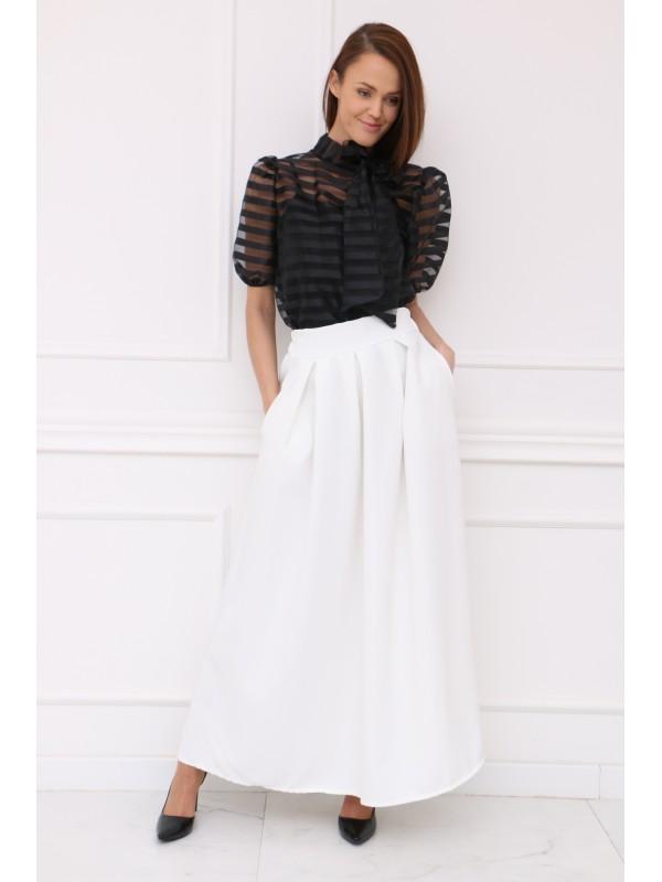 Dámska bielá elegantná sukňa