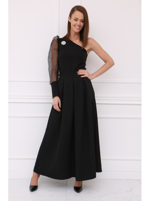 Dámska čierná elegantná sukňa