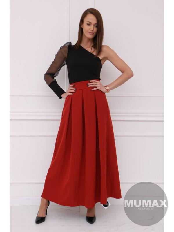 Dámska terracotta elegantná sukňa