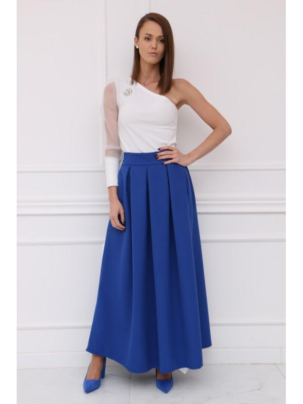 Dámska modrá elegantná sukňa