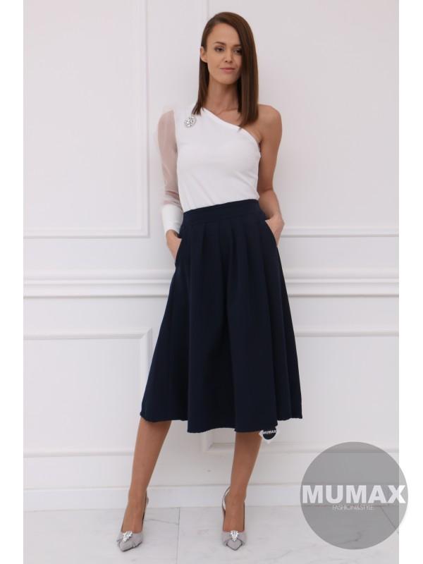 Dámska tmavomodrá sukňa