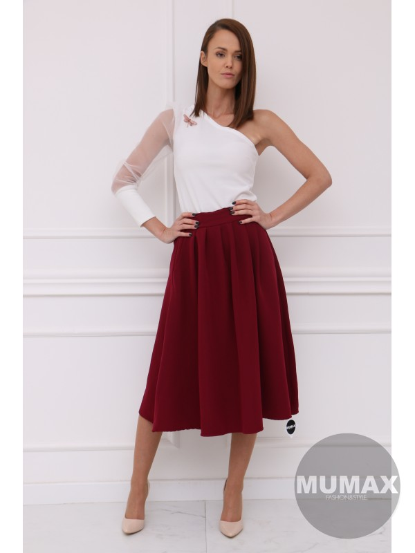 Dámska bordová sukňa