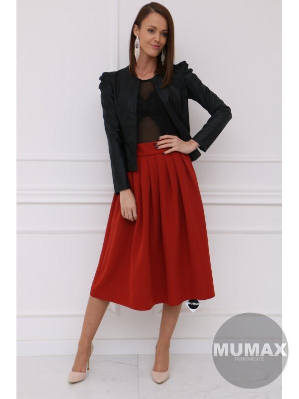 Čierné koženkové sako