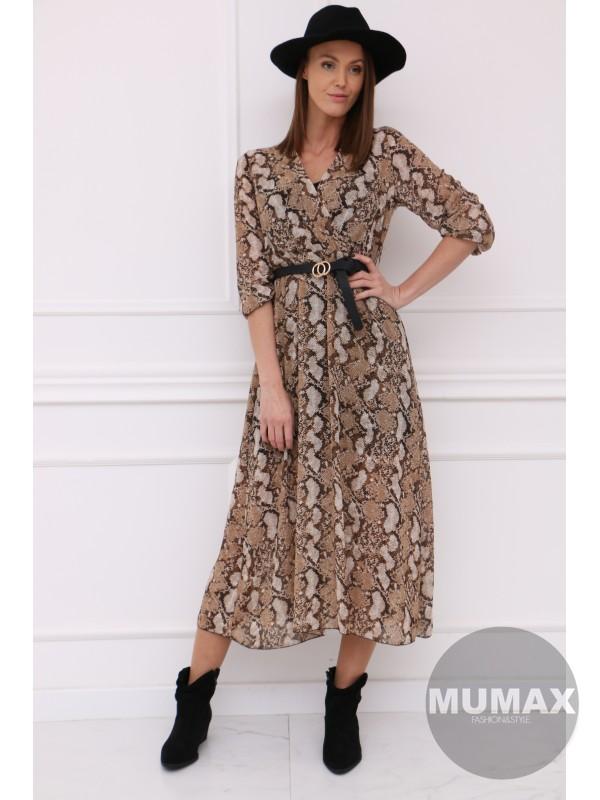 Dámske šaty hadí vzor