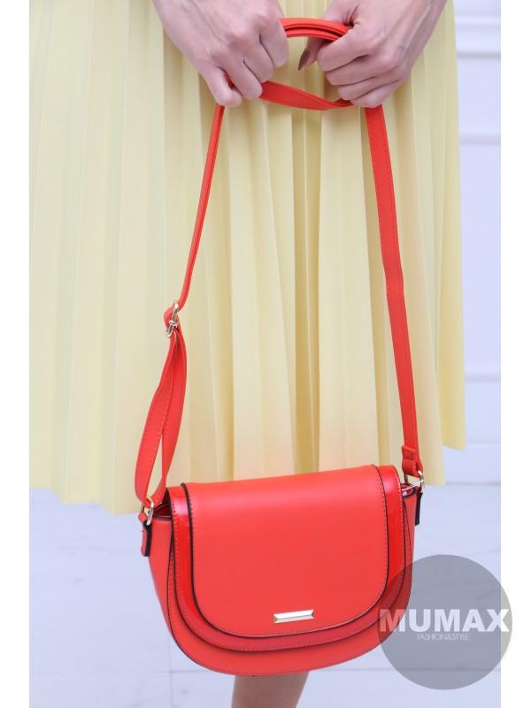 Červeno-oranžová kabelka