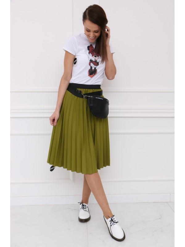 Zelená plisovaná sukňa