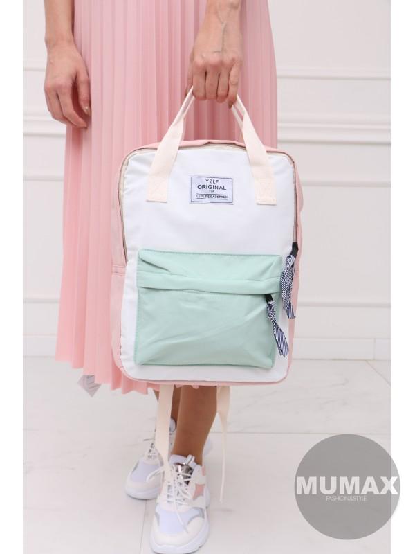 Trendy ruksak ružový