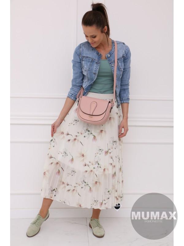 Plisovaná sukňa s kvetmi