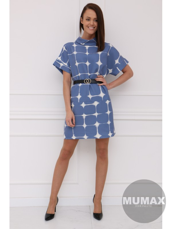 Modré šaty CLAUDIE