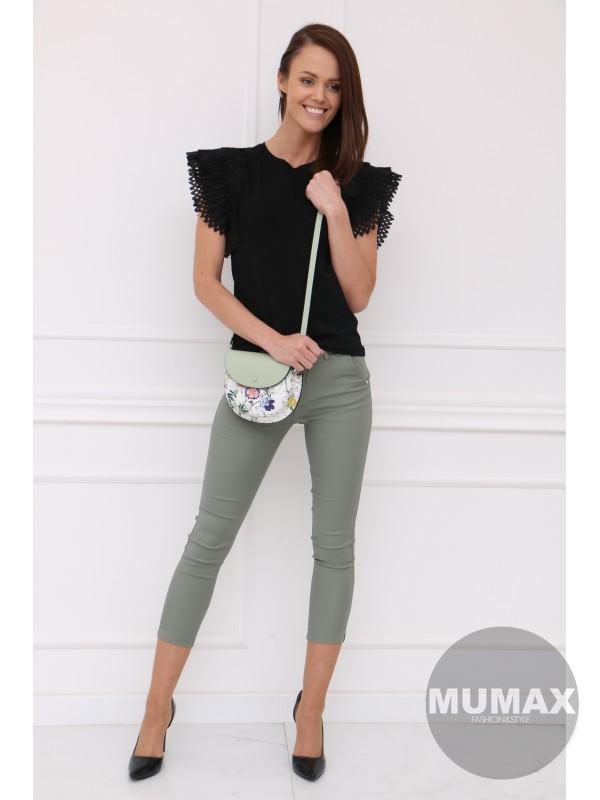 Zelené elegantné nohavice