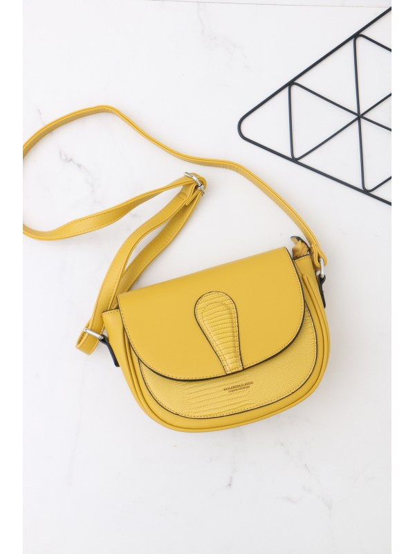 Módna kabelka žltá