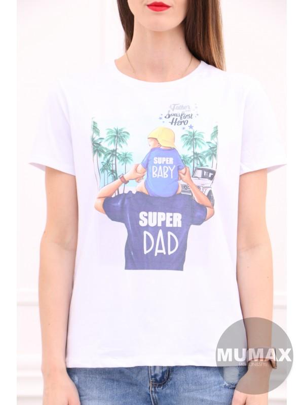 Biele tričko super Dad