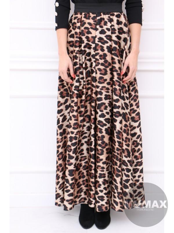 Dlhá sukňa leopardí vzor