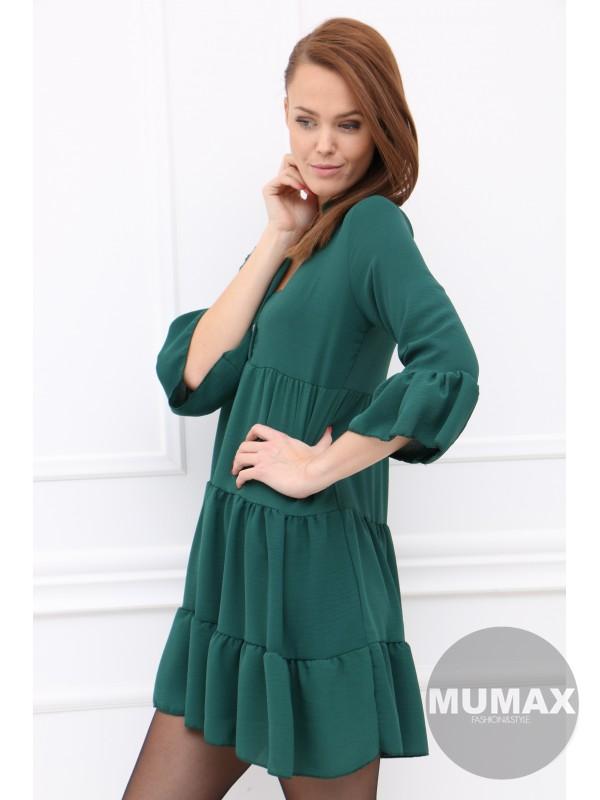 Dámske tmavozelené šaty