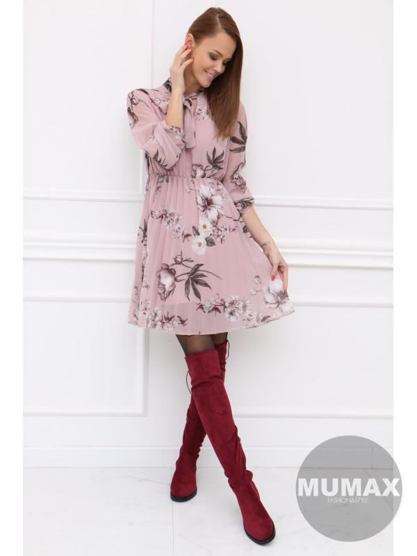 Plisované ružové šatky