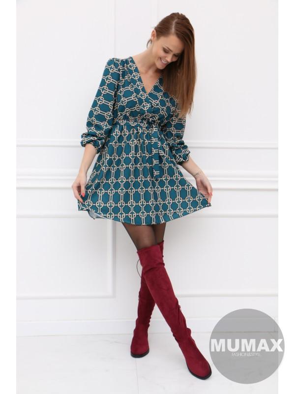 Dámske smaragdové šaty