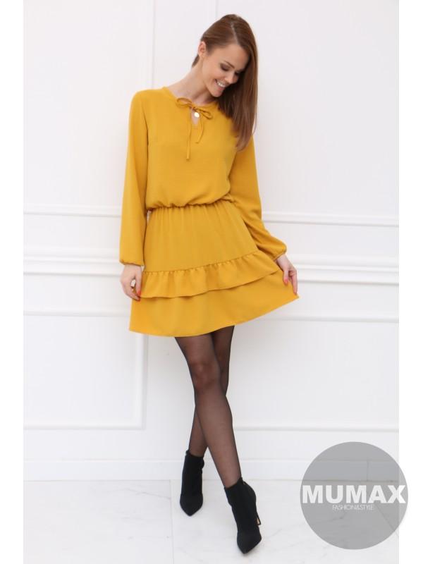Dámske žlté šatky
