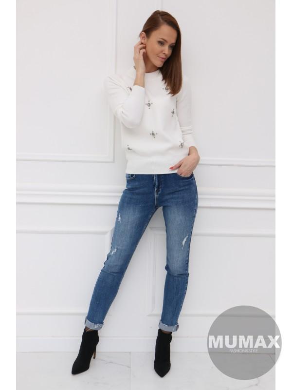 Dámsky biely pulover