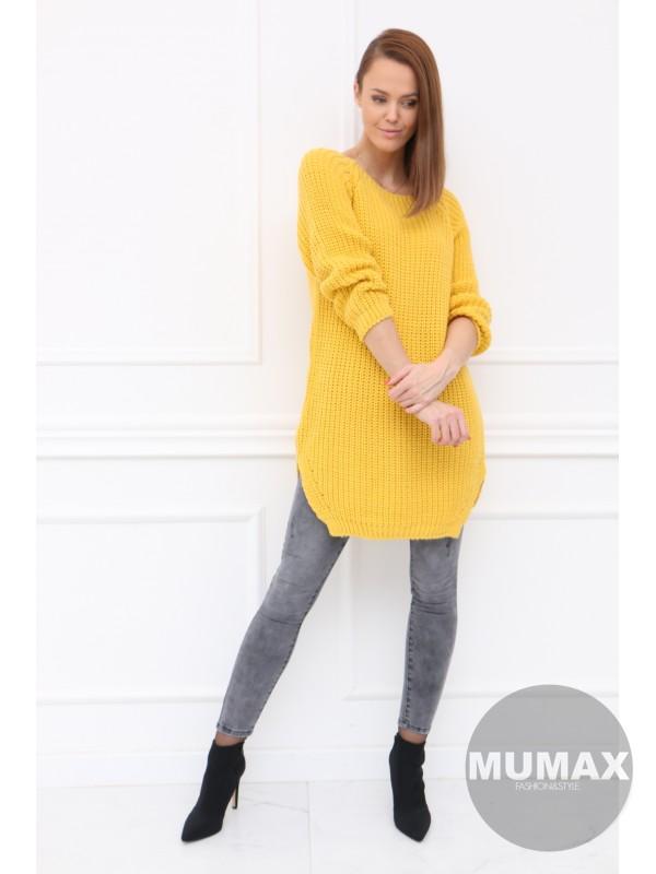 Žltý predĺžený sveter