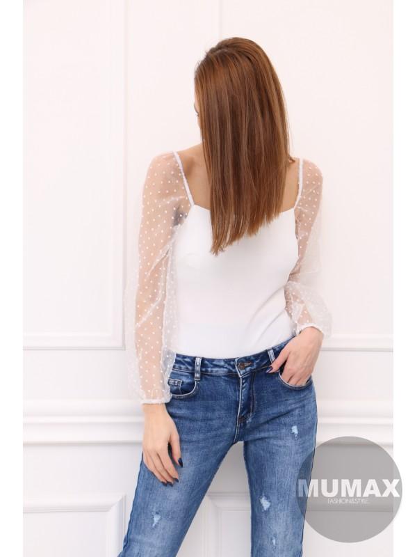 Trendy bielý top