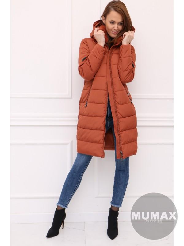 Dámska škoricová zimná bunda