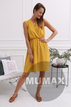 272a7b2d1d8ef Dámske žlté letné šaty