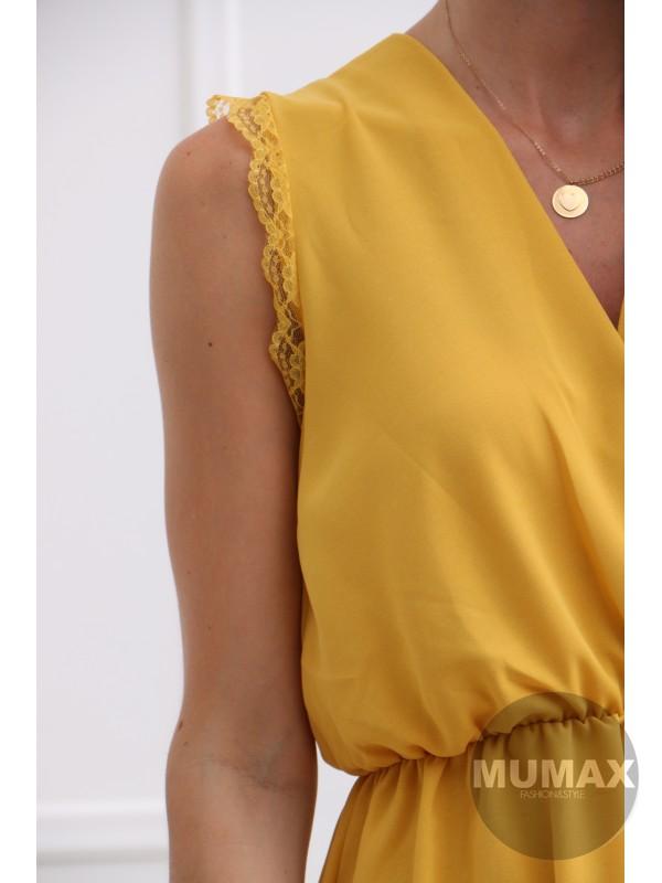 Dámske žlté letné šaty