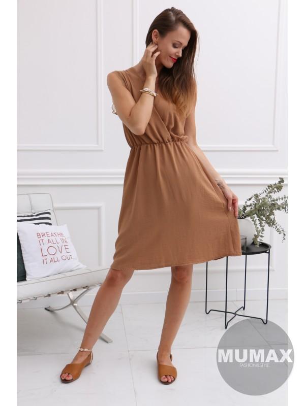 Dámske hnedé letné šaty