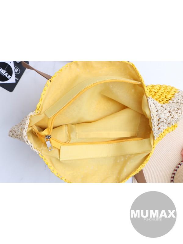 Módna slamená kabelka
