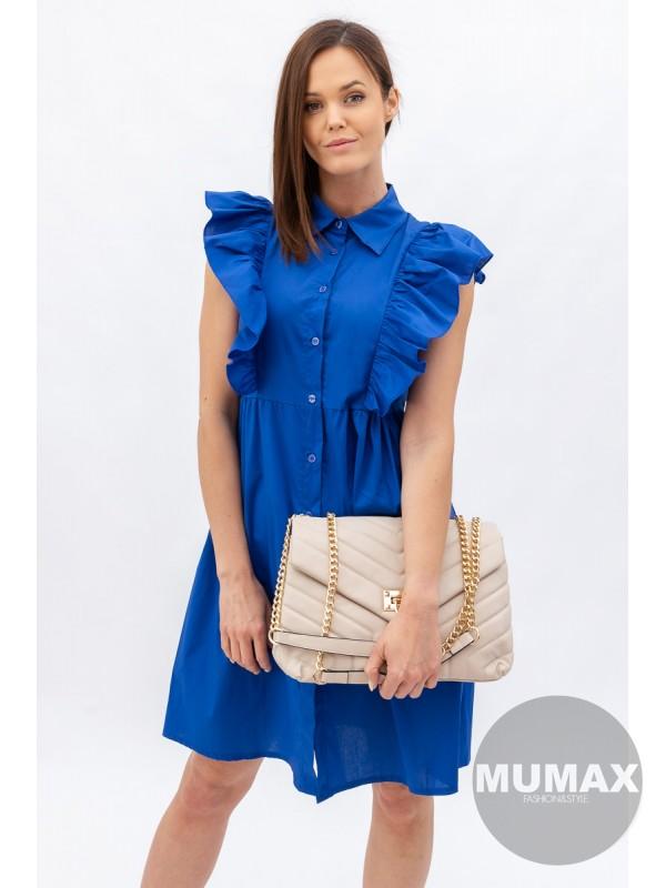 Šaty s volánom na gombíky