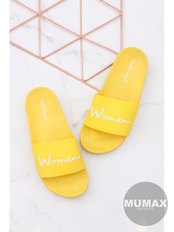 Žlté šľapky WOMEN