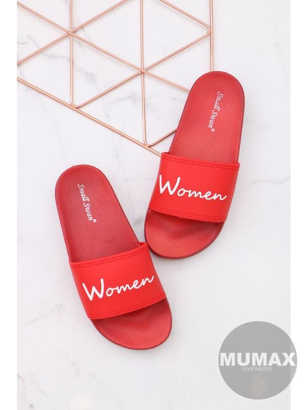 Červené šľapky WOMEN