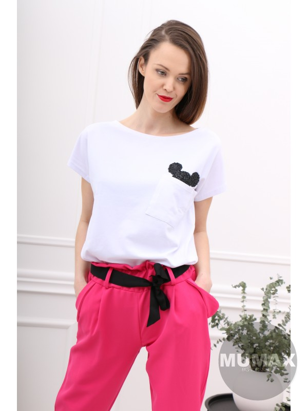 Dámske ružové nohavice